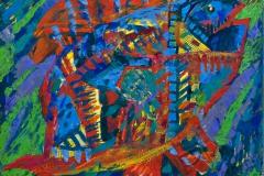 """""""Рыба 1"""", 2011, бум./смеш. техника, 40x40"""