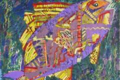 """""""Рыба 2"""", 2011, бум./смеш. техника, 40x40"""