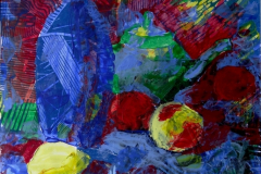 """Натюрморт с лимоном"", 2011, бум./смеш. техника, 32x32"