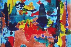 """""""Путешестия по морю и земле"""", 2009, бум./смеш. техника, 44x44"""