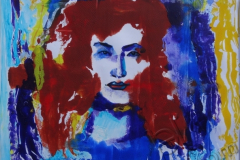 """""""Обратная сторона Луны"""", автопортрет, 2009, бум./монотипия, 49x50"""