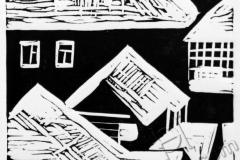 «Крыши 1», 2013, X3, 10x10