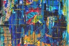 """""""Таймс сквер"""", 2009, бум./смеш. техника, 44x44"""