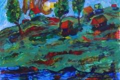 """""""Весна"""", 2015, бум./смеш. техника, 43x50"""