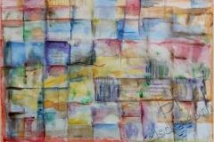 """""""Ночные думы 1"""", 2011, бум./акварель, 25x36"""