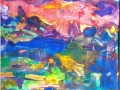 """Вечерний сад"", 2009, бум./монотипия, 32x32"