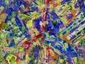 """""""Беспричинная радость"""", 2011, бум./смеш. техника, 32x32"""