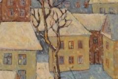 «Зима во дворе», 2009, х/м, 70х50