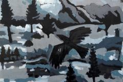 «Зимняя ночь», 2019, холст/акрил, 100х80
