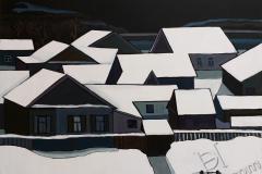«Крыши 2», 2020, холст/акрил, 80х90