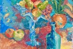 «Натюрморт с виноградом», 2010, к/м, 49х36