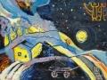 «Волчица ночь», 2000, к/м, 40х50