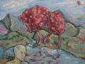 «Горная река (Река времени)», 2009, х/м, 80х100