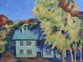 «Осень во дворе», 2012, х/м, 60х60