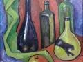 «Натюрморт с желтой бутылкой», 2014, х/м, 40х30