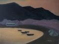 «Хараки. Закат на пляже», июль 2014, к/м, 30х40