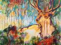 «Дух Леса 1», 2018, х/акрил, 95х70